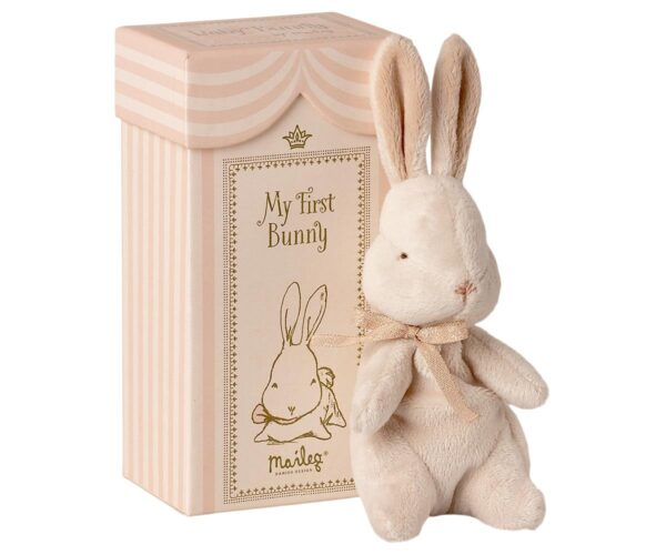 my first bunny toy in box dusty rose