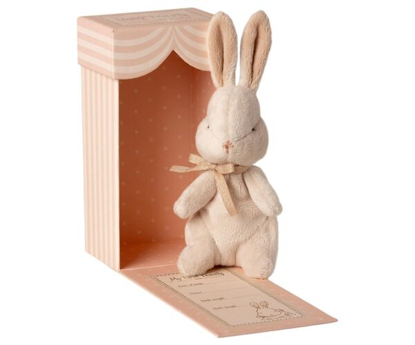 my first bunny toy in box dusty rose look