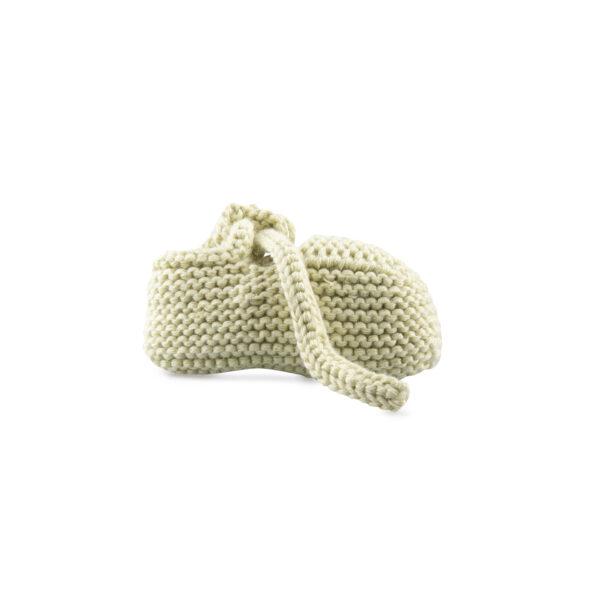 newborn tricot shoes bonnie pale green