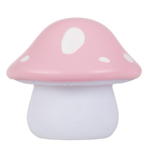 night light pink mushroom look