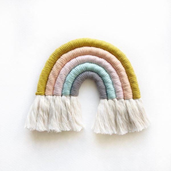 Kids Decor Rainbow Mostaza Pastel