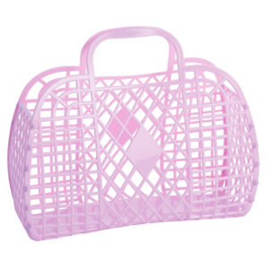 retro basket large lilac