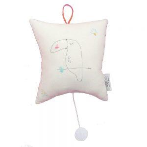 Kids Musical Cushion Toucan Noisette