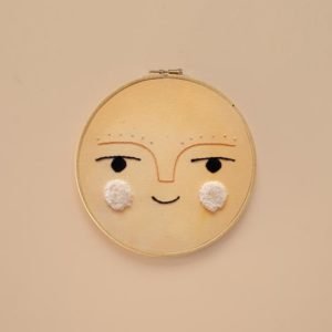 Kids Wall Decor Sol Embroidery Hoop