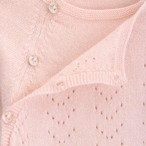 sweater newborn tricot ajours look