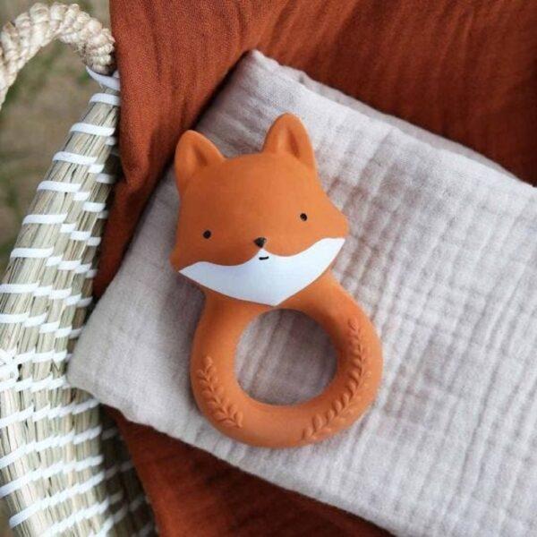 teething ring fox look