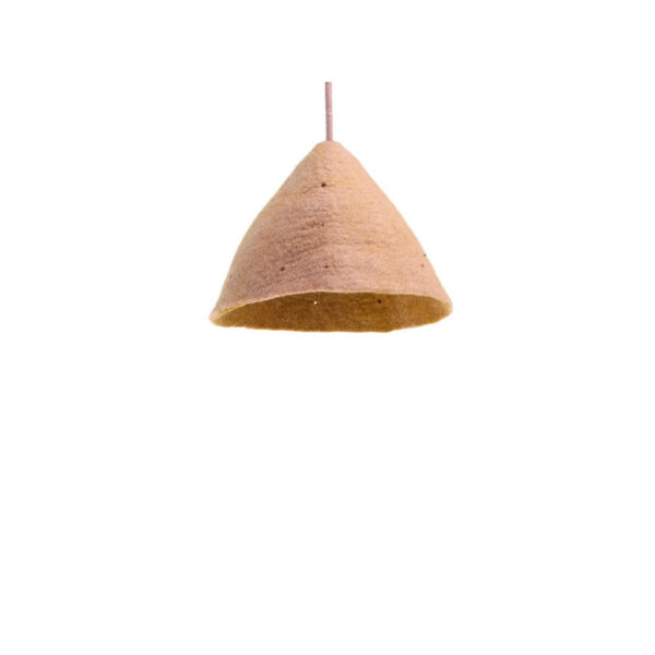two tone tipi lampshade quartz pink and gold