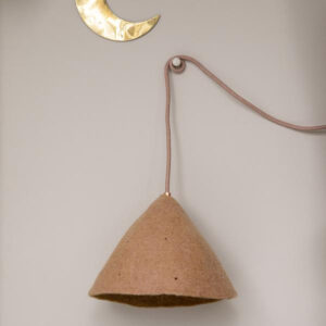two tone tipi lampshade quartz pink and gold look
