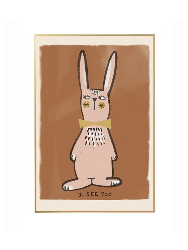 Rabbit Poster for Children's Room