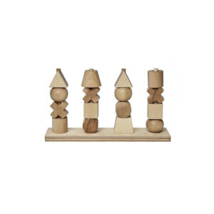 Wooden Toys XL Natural Stacking