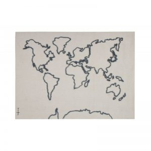 Wall Decor-Wall Hanging Canvas Map