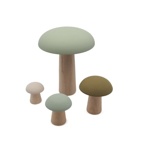 wooden mushrooms mousse