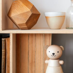 wooden stacking bear white look1