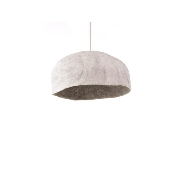 yourte lampshade light stone and natural large